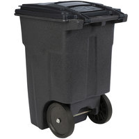 Toter ANA48-00BST 48 Gallon Brownstone Rotational Molded Rollout Trash Can with Lid