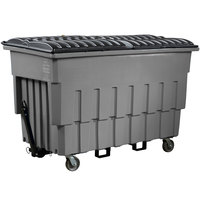 Toter FLM20-00146 2 Cubic Yard Graystone Mobile Truck with Attached Lid (1000 lb. Capacity)
