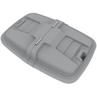 Toter LMC12-00IGY Graystone Removable Split Lid for 12 Cubic Foot Cube Trucks
