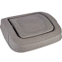 Toter SSD35-54036 Graystone Square Swing Door Lid for 35 Gallon Slimline Trash Cans