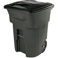 Toter ANA96-54342 96 Gallon Greenstone Rotational Molded Rollout Trash Can with Lid