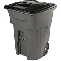 Toter ANA96-10599 96 Gallon Graystone Rotational Molded Rollout Trash Can with Lid
