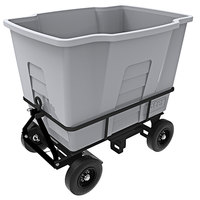 Toter AMA20-00IGY 2 Cubic Yard Graystone Rapid Speed Mobile Waste Receptacle (1500 lb. Capacity)