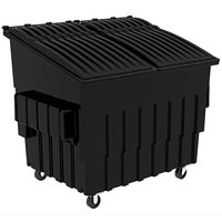 Toter FL040-10707 4 Cubic Yard Blackstone Front End Loading Mobile Trash Container / Dumpster (2000 lb. Capacity)