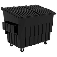 Toter FL030-10748 3 Cubic Yard Blackstone Front End Loading Mobile Trash Container / Dumpster (1500 lb. Capacity)
