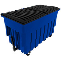Toter FLT20-00BLU 2 Cubic Yard Blue Mobile Truck with Attached Lid and Tow Assembly (2300 lb. Capacity)