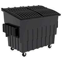 Toter FL030-U0MGY 3 Cubic Yard Graystone Front End Loading Mobile Trash Container / Dumpster (1500 lb. Capacity)