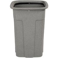 Toter SSC35-00GST Slimline Graystone 35 Gallon Square Trash Can