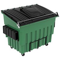 Toter FL53C-11358 Organics 3 Cubic Yard Green Front End Loading Mobile Trash Container / Dumpster (3000 lb. Capacity)