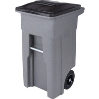 Toter ANA32-00GST 32 Gallon Graystone Rotational Molded Rollout Trash Can with Lid