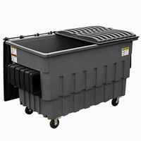 Toter FL020-U0MGY 2 Cubic Yard Graystone Front End Loading Mobile Trash Container / Dumpster (1000 lb. Capacity)