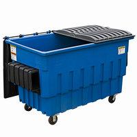 Toter FL020-U0BLU 2 Cubic Yard Blue Front End Loading Mobile Trash Container / Dumpster (1000 lb. Capacity)