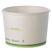 Fineline 42FC08 Conserveware 8 oz. PLA Lined Compostable Food Container - 1000/Case
