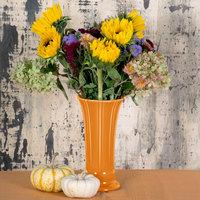 Homer Laughlin 491325 Fiesta Tangerine 9 5/8 inch Medium Vase - 4/Case