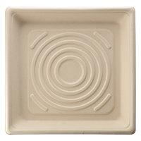 Fineline 42ST10 Conserveware 10 1/4 inch Tan Bagasse Square Tray - 200/Case