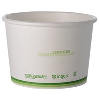 Fineline 42FC16 Conserveware 16 oz. PLA Lined Compostable Food Container - 500/Case