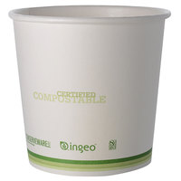 Fineline 42FC24 Conserveware 24 oz. PLA Lined Compostable Food Container - 500/Case