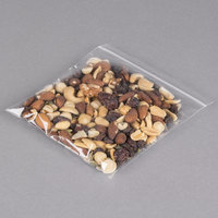 Plastic Food Bag 6 inch x 6 Seal Top with Hang Hole - 1000/Box