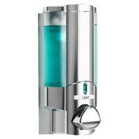 Dispenser Amenities 36144 Aviva 10 oz. Chrome Wall Mounted Locking Soap Dispenser with Translucent Bottle