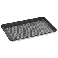 Vollrath 5303NSP Wear-Ever Half Size 18 Gauge Non-Stick 13 inch x 18 inch Wire in Rim Perforated Aluminum Bun / Sheet Pan