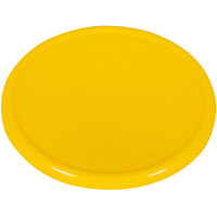 San Jamar / Escali SCDG11PLTYL 5 1/2 inch Yellow Plastic Platform Cover for 11 lb. Round Digital Scales
