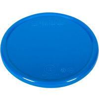 San Jamar / Escali SCDG11PLTBL 5 1/2 inch Blue Plastic Platform Cover for 11 lb. Round Digital Scales