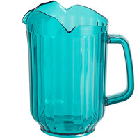 Choice 60 oz. Turquoise SAN Plastic Beverage Pitcher with 3 Spouts