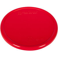 San Jamar / Escali SCDG11PLTRD 5 1/2 inch Red Plastic Platform Cover for 11 lb. Round Digital Scales