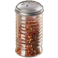 American Metalcraft BEE317 12 oz. Glass Beehive Spice Shaker with Stainless Steel Lid