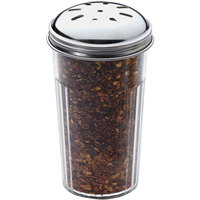 American Metalcraft 3317 12 oz. Plastic Spice Shaker with Perforated Metal Top
