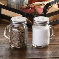 American Metalcraft MSP4 4 oz. Mason Jar Salt and Pepper Shaker Set