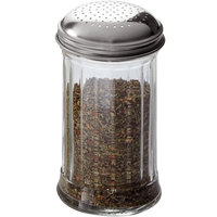 American Metalcraft GLA318 12 oz. Glass Dredge / Shaker with Stainless Steel Lid