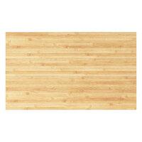 Hirsh Industries 22826 Huxley 30 inch x 18 inch Natural Wood Rectangular Worksurface