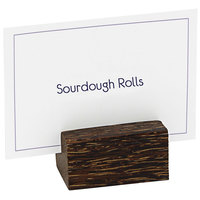 Front of the House BHO013PWW23 1 1/2 inch x 3/4 inch x 3/4 inch Palm Wood Card Holder