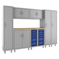 Hirsh Industries 1947471-PKG Makerspace Classroom Starter Storage System with Lockers, Cabinets, and Worksurface