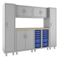 Hirsh Industries 1947474-PKG Makerspace Classroom Starter Storage System with Lockers, Cabinets, and Worksurface