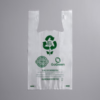 1/6 Size 4 Mil Clear Reusable Extra Heavy Plastic T-Shirt Bag - 150/Case