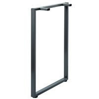 Hirsh Industries 22035 Holden 40 1/4 inch Standing Height Charcoal O-Leg Support for 29 1/2 inch Worksurface