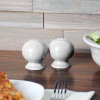Homer Laughlin 497100 Fiesta White China Salt and Pepper Shaker Set - 4/Case