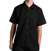 Chef Revival CS006BK Black Poly-Cotton Short Sleeve Cook Shirt Size 2X