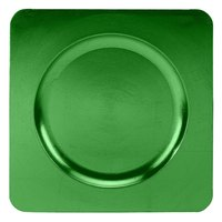 Tabletop Classics TR-6665 12 1/4 inch Green Square Acrylic Charger Plate