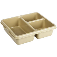 Cambro 9113CP161 9 inch x 11 inch Tan 3 Compartment Meal Delivery Tray - 24/Case