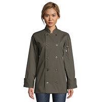 Uncommon Threads Orleans 0488 Olive Unisex Customizable Long Sleeve Chef Coat - L