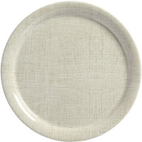 American Metalcraft DPN9LN Jane Casual 9 inch Linen Round Narrow Rim Melamine Plate