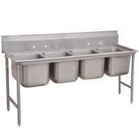 Advance Tabco 9-24-80 Super Saver Four Compartment Pot Sink - 97 inch