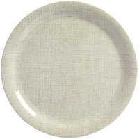 American Metalcraft DPN10LN Jane Casual 10 1/2 inch Linen Round Narrow Rim Melamine Plate