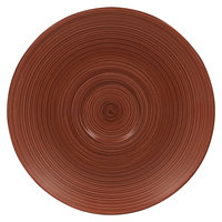 RAK Porcelain TRCLSA17BW Trinidad 6 11/16 inch Walnut and Black Porcelain Saucer - 12/Case