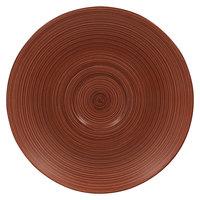 RAK Porcelain TRCLSA13BW Trinidad 5 1/8 inch Walnut and Black Porcelain Saucer - 12/Case