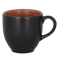 RAK Porcelain TRCLCU09BW Trinidad 3.05 oz. Walnut and Black Porcelain Cup - 12/Case