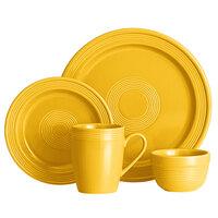 Acopa Capri Mango Orange China Dinnerware Set with Service for 12 - 48/Pack